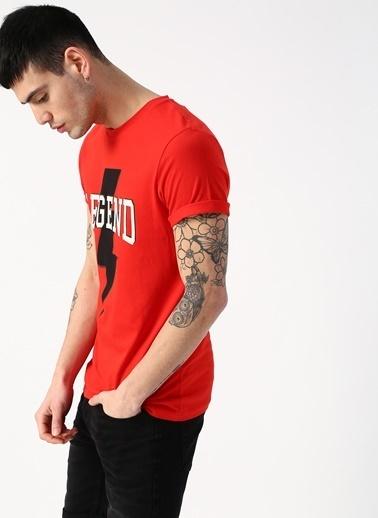 Jack & Jones Jack & Jones Custom T-Shirt Kırmızı